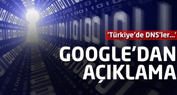 Google'dan flaş iddia! Türkiye'de DNS'ler...