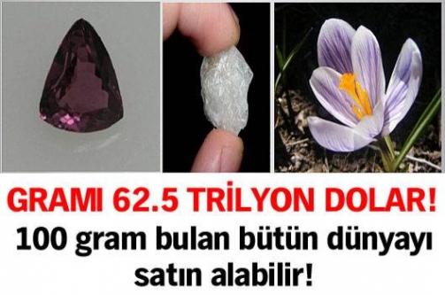 Gramı 62.5 trilyon dolar!