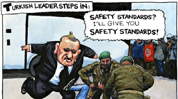 Guardian'dan Tekmeli Karikatür