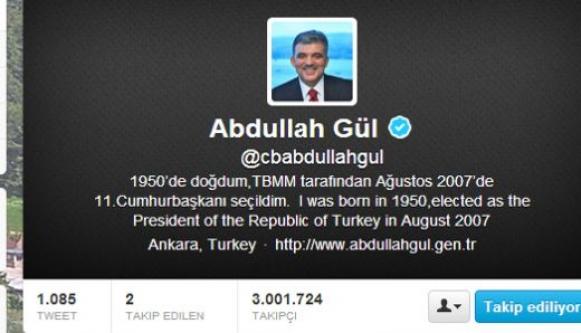 Gül'ün Twitter hesabı silinecek mi?