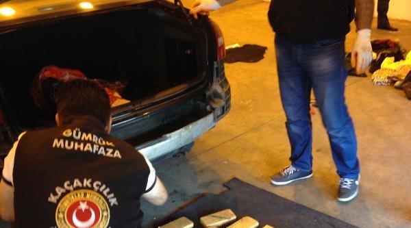 Gurbetçi Ailenin Otomobilinde 10 Kilo Eroin Ele Geçirildi