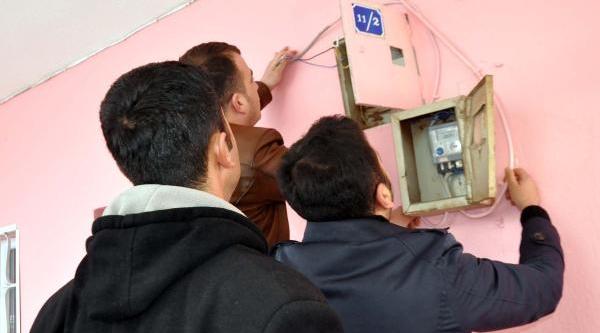 Güroymak'ta Kaçak Elektrik Denetimi