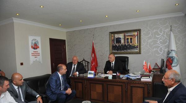 Gürsel Tekin, Türkiye Nakliyeciler Federasyonu'nu Ziyaret Etti