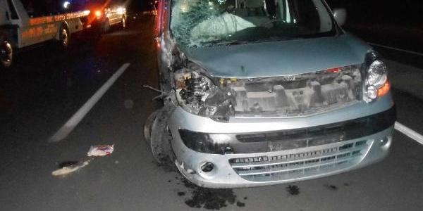 Hafif Ticari Aracin Çarptiği Motosikletteki Çift Öldü