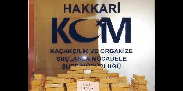 Hakkari Ve Ağri'da Yapilan Operasyonlarda 30 Kilo Eroin Ele Geçirildi