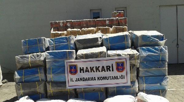 Hakkari'de 6 Ton 200 Kilo Kaçak Çay Ele Geçirildi