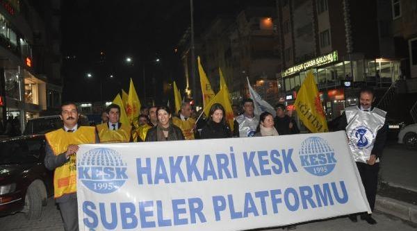Hakkari'de Başbakan'in Kizli-Erkekli Açiklamasi Protesto Edildi
