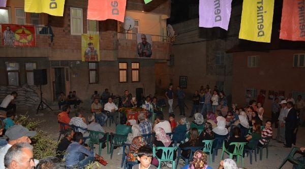 Hakkari'de Demirtaş İçin Gece Toplantıları