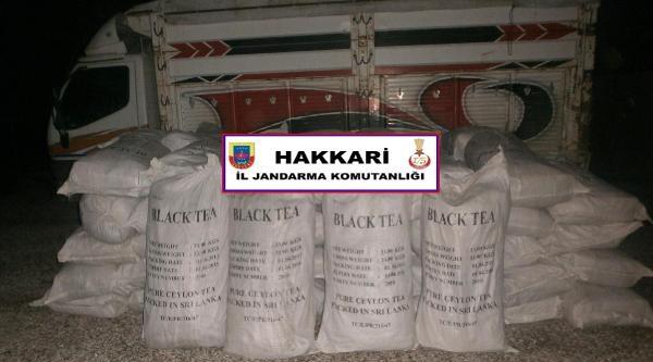 Hakkari'de  Kaçak Çay Operasyonu