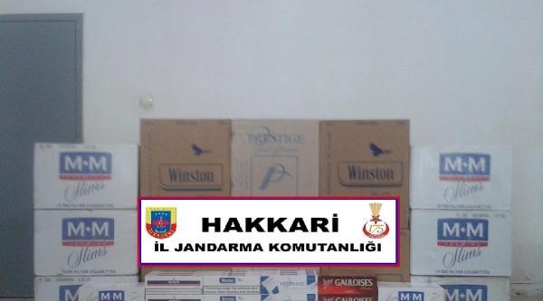 Hakkari'de Kaçak Fıstık Ve Sigara Ele Geçirildi