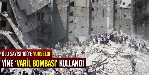 Halep'te hava saldırısı: 100 ölü