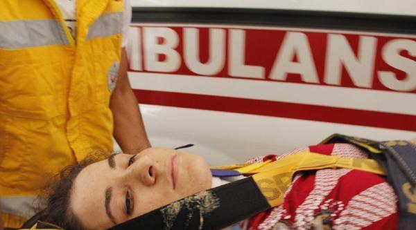 Halı Yıkarken Damdan Düşen Kadın Yaralandı