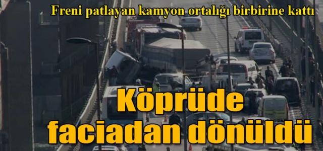 Haliç'te büyük kaza! Yol trafiğe kapatıldı