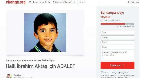 Halil'in Katili İçin 'idam' Talepli Kampanya