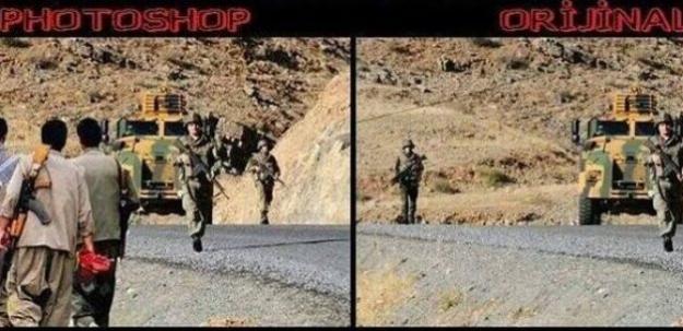 Halk TV'de Türk askerine photoshoplu iftira!