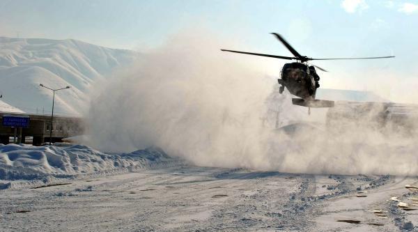 Hamile Kadin, Askeri Helikopterle Kurtarildi