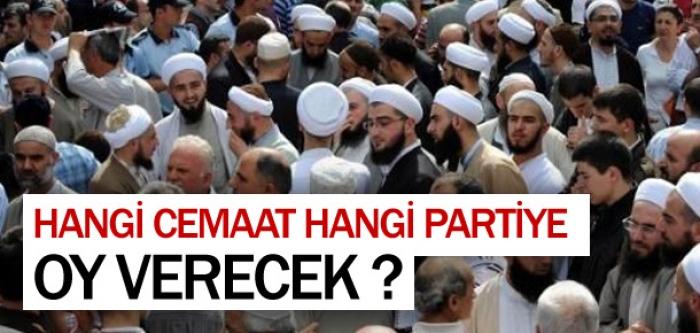 Hangi cemaat hangi partiye oy verecek ?