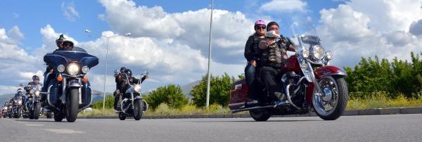 Harley Motosikletçilerin 'cağ Kebabı Molası'