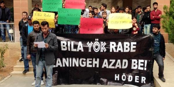 Harran Üniversitesi Öğrencilerinden Yök Protestosu