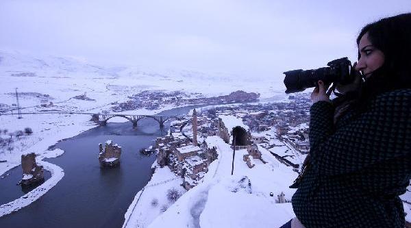 'hasankeyf 50 Yildir Böyle Kar Görmedi'