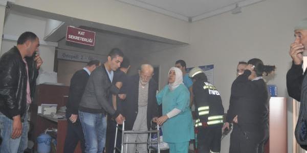 Hastanenin Ortopedi Servisinde Yangin Çikti, Hastalar Panik Yaşadi