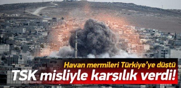 Havan mermileri Türkiye'ye düştü