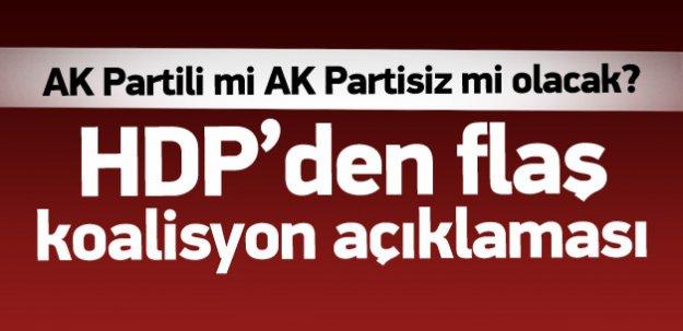 HDP'den koalisyon için yeşil ışık