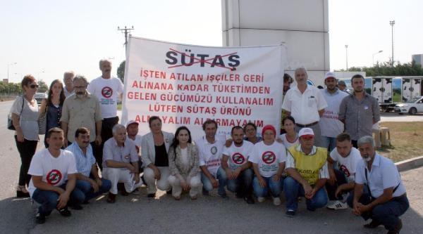 Hdp Eş Genel Başkanı Yüksekdağ, Sütaş İşçilerini Ziyaret Etti