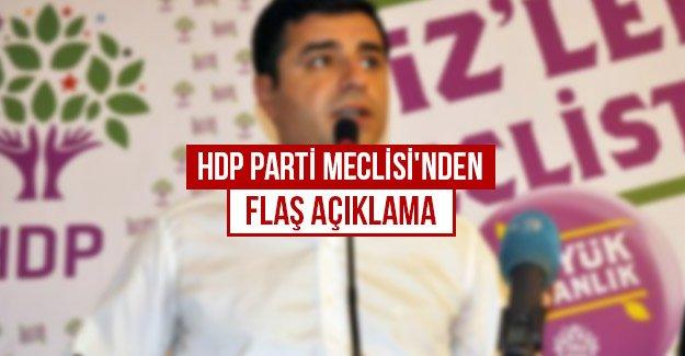 HDP Parti Meclisi'nden flaş açıklama...