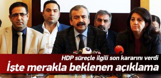 HDP süreçle ilgili son kararını verdi! İşte merakla beklenen o açıklama!