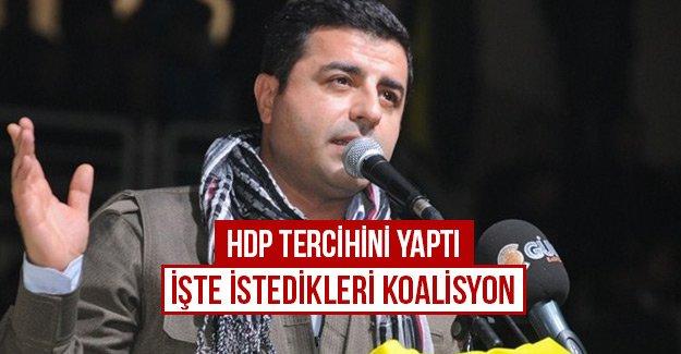 HDP tercihini yaptı işte istedikleri koalisyon