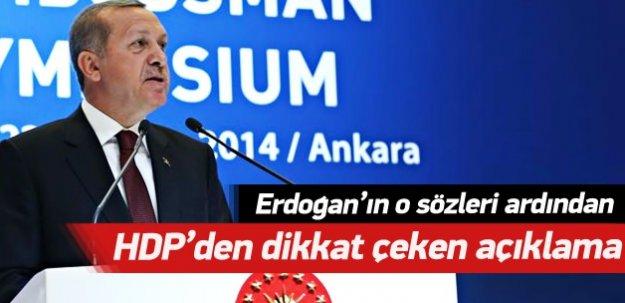 HDP'den dikkat çeken açıklama