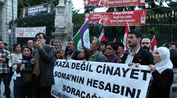 Hdp'den Soma İçin Protesto