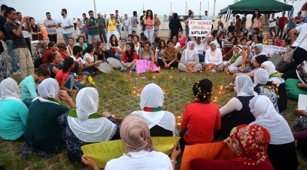 Hdp'li Kadınlardan Ağıtlı Türkülü Işid Eylemi