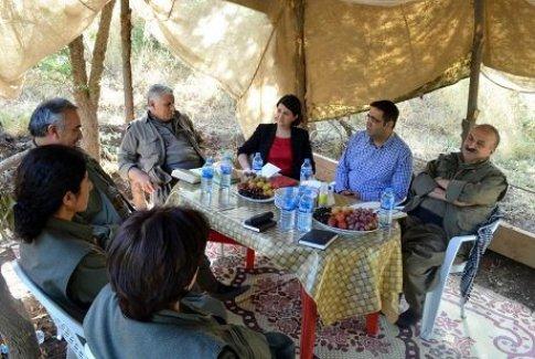HDP'li Vekiller Kandil Fotoğraflarını Paylaştı