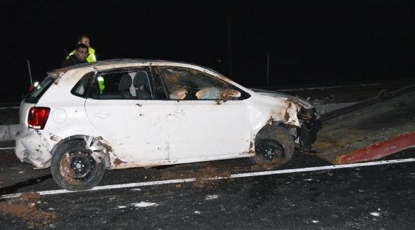 Hilvan'da Otomobil Devrildi: 5 Yarali