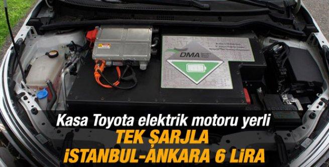 Hızlı şarj ünitesiyle İstanbul Ankara arası 6 lira