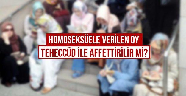 Homoseksüele verilen oy teheccüd ile affettirilir mi?