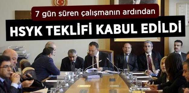 HSYK Teklifi Kabul Edildi...