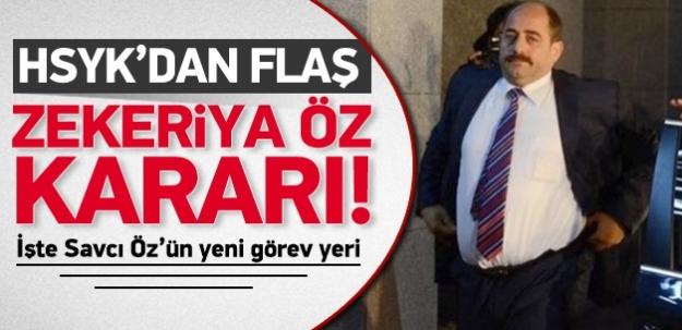 HSYK'dan Flaş Zekeriya Öz Kararı!