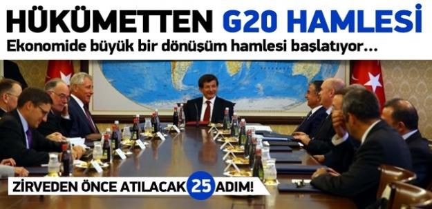 Hükümetten G20 hamlesi