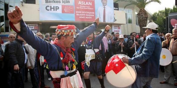Hüseyin Aslan, Miting Gibi Bir Törenle Chp'den Izmir Büyükşehir Belediye Başkan Aday Adayliğini Açikladi