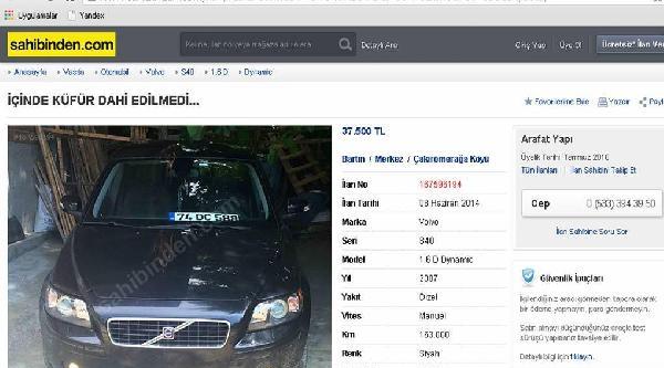 'içinde Küfür Dahi Edilmedi' İlanli Otomobil Satışı