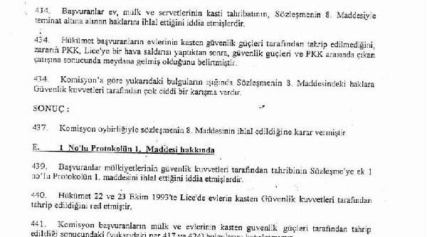 Iddianamedeki Komisyon Raporu: Türkiye 'pkk Lice'ye Hava Saldirisi Yapti' Dedi