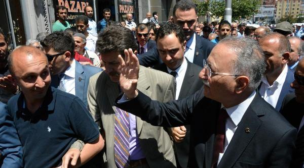 İhsanoğlu Erzurum'da 200 Araçlık Konvoyla Karşılandı (2)