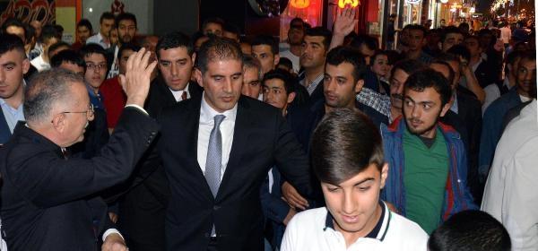 İhsanoğlu Erzurum'da 200 Araçlık Konvoyla Karşılandı (4)