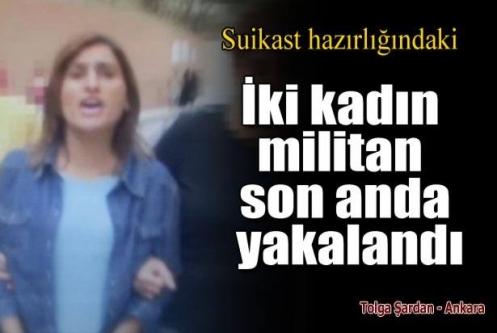 İki kadın MLKP'li iki suikast silahı ile yakalandı