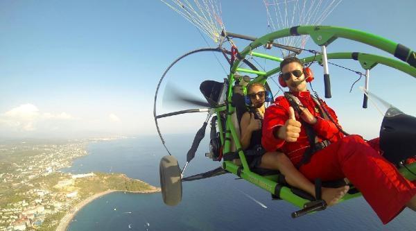 İlk Özel Motorlu Paraşüt Pisti Alanya'da
