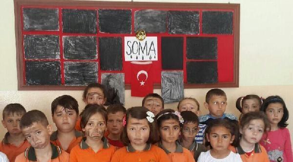 İlkokul Öğrencilerinden Soma İçin 'kara' Resim