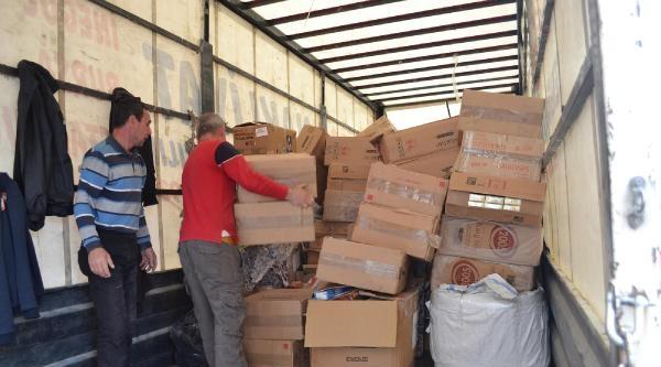 İnegöl'de Ele Geçirilen 200 Bin Paket Kaçak Sigara İmha Edildi